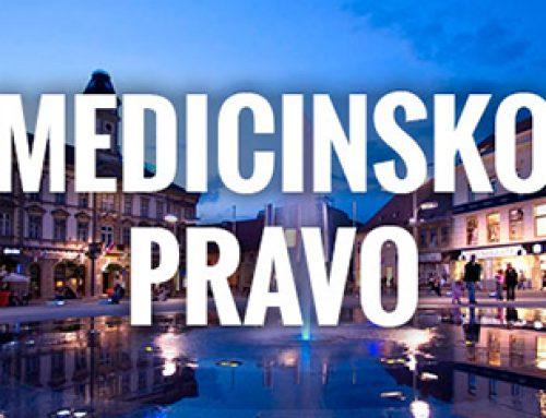 """Poziv na 1. hrvatski kongres medicinskog prava """"Medicinsko pravo u sustavu zdravstvene djelatnosti"""""""